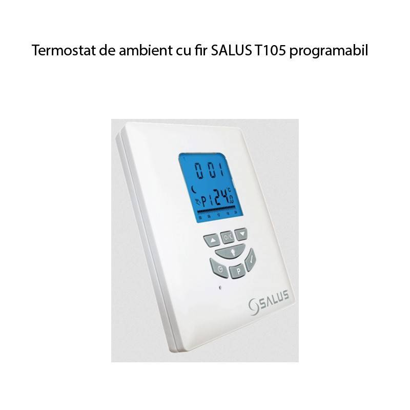 Poza Cronotermostat cu fir programabil Salus T105