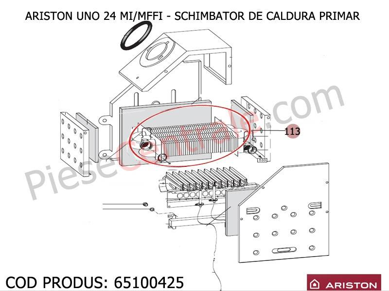 Poza Schimbator caldura primar centrale termice Ariston UNO 24 mi/mffi