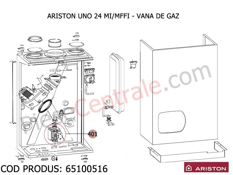 Poza Vana de gaz centrale termice Ariston UNO si MICROTEC