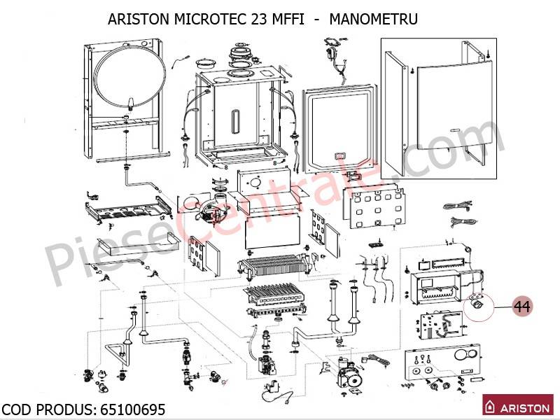 Poza Manometru centrale termice Ariston MICROTEC SI MICROGENUS