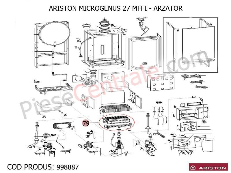 Poza Arzator centrale termice Ariston MICROGENUS 27 MFFI