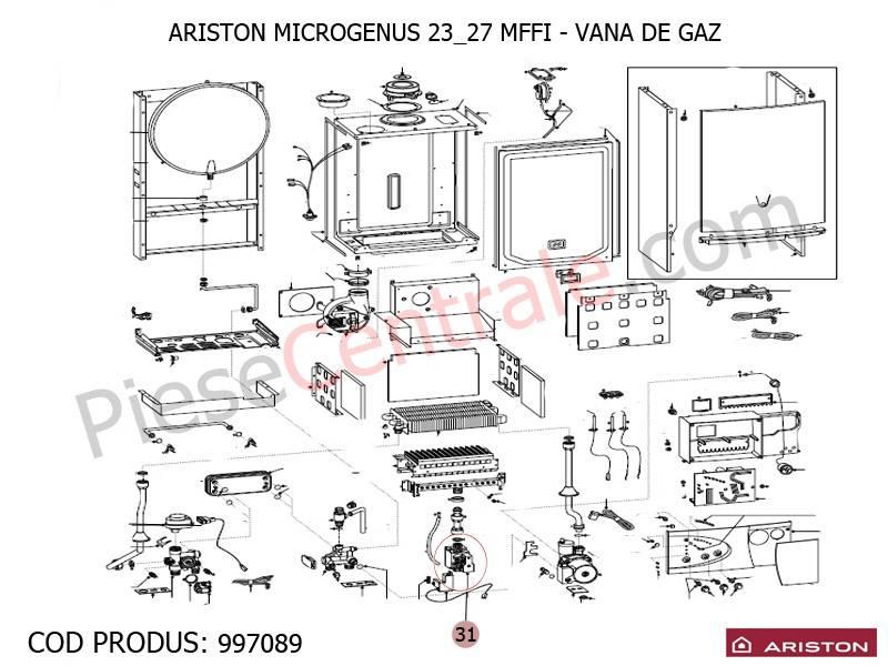 Poza Vana de gaz centrale termice Ariston MICROGENUS MFFI