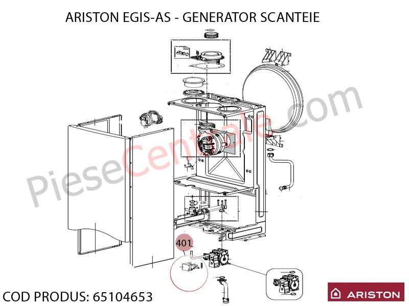Poza Generator scanteie centrale termice Ariston EGIS, AS, Bis 2 24 kw