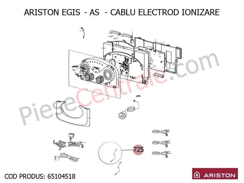 Poza Cablu electrod ionizare centrale termice Ariston Egis, AS
