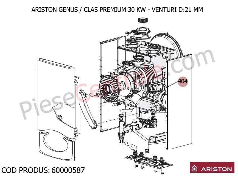 Poza VENTURI D:21MM centrale termice Ariston Genus, Clas Premium