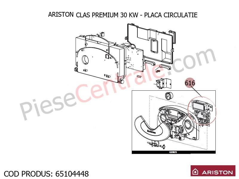 Poza Placa circuite centrala termica Ariston Clas Premium