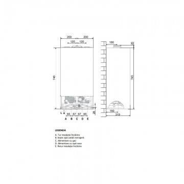 Poza Dimensiuni Centrala termica in condensare Ariston CARES PREMIUM 30 EU 30 KW