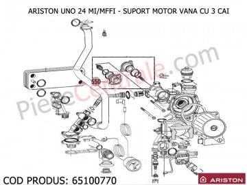 Poza Suport motor vana cu 3 cai centrale termice Ariston UNO 24 mi/mffi
