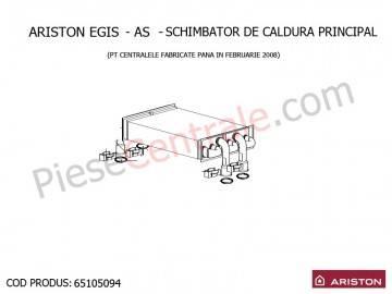 Poza  Schimbator de caldura principal centrala termica Ariston EGIS si AS