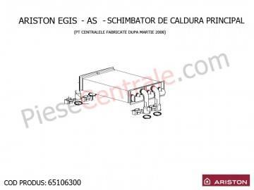 Poza Schimbator de caldura principal centrala termica Ariston EGIS si AS 24 kw