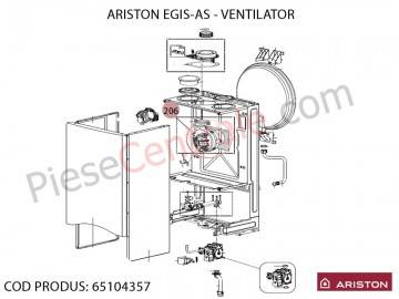 Poza Ventilator centrala termica Ariston BIS, EGIS si AS