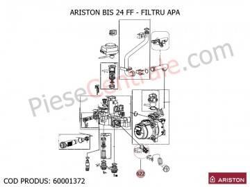 Poza Filtru apa centrale termice Ariston BIS 24 FF, EGIS, AS