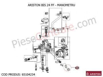 Poza Manometru centrale termice Ariston BIS 2, BIS 24 FF, AS, EGIS, Clas Premium, Clas