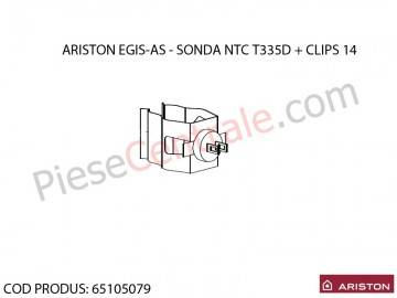 Poza Sonda NTC T335D + CLIPS 14 centrale termice Ariston EGIS si AS