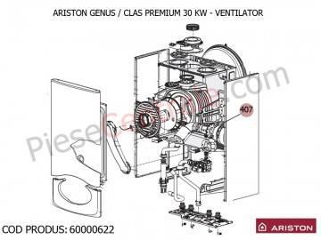 Poza  Ventilator centrale termice Ariston Genus Premium, Clas Premium