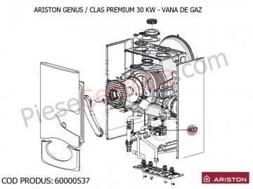 Poza Vana de gaz centrale termice Ariston Genus Premium, Clas Premium