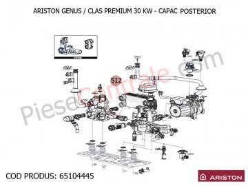 Poza Capac posterior centrale termice Ariston Genus/Clas Premium