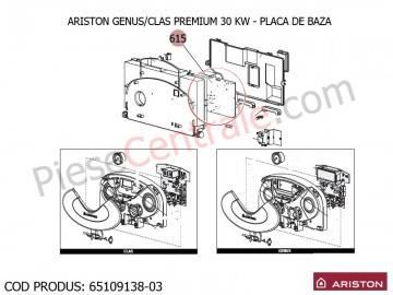 Poza Placa electronica principala centrale termice Ariston Clas/Genus Premium