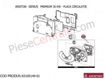 Poza Placa circuite centrala termica Ariston Genus Premium